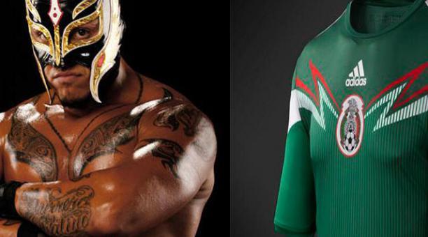 El  apos Rey Misterio apos  inspira a la camiseta de México ... 352631c68ddcc