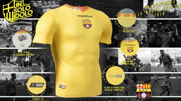 watch 4dd39 38126 Marathon Sports presentó la nueva camiseta del Barcelona SC ...