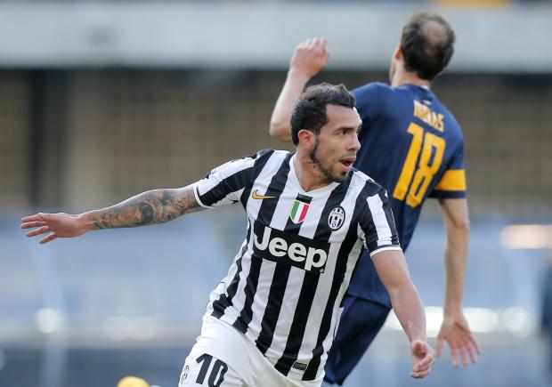 Tévez encabeza el equipo ideal de la Liga italiana   El