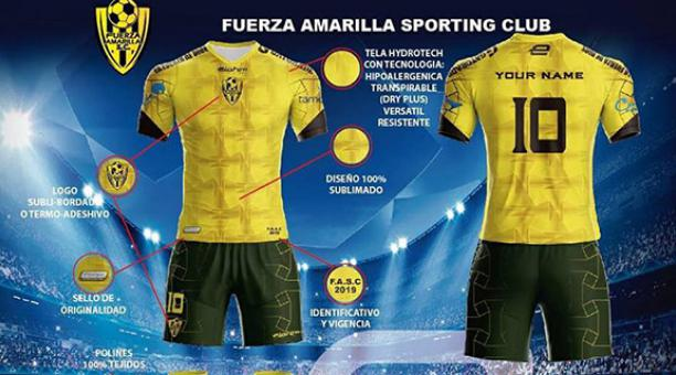 bca00b2237 Fuerza Amarilla presentó su camiseta para el 2019