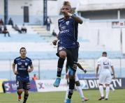 Billy Arce celebra el tercer gol de Independiente del Valle ante Guayaquil City